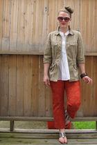 talbots jacket - Loft blouse - Gap pants - Ross shoes