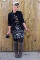 JCpenney skirt - JCpenney blazer - Target shirt - Target boots