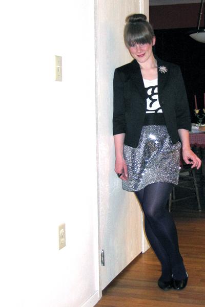 701d36546d4b Cheap Monday shirt - sears jacket - self-made skirt - JCP shoes - brooch