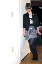 Cheap Monday shirt - sears jacket - self-made skirt - JCP shoes - brooch accesso