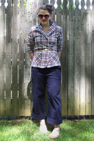 thrifted blazer - Target pants - Kenneth Cole Reaction shoes - vintage belt - Be