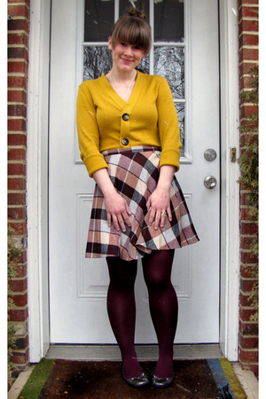 BonTon shirt - thrifted skirt - HUE tights - JCP shoes