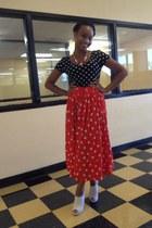 necklace - dress - skirt - wedges