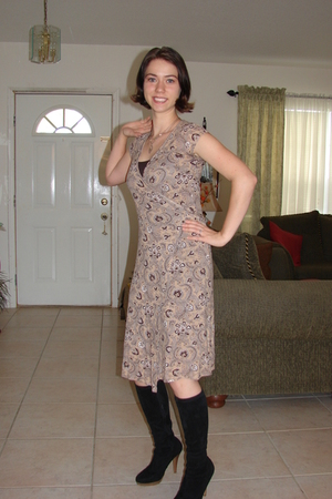 brown banana republic dress