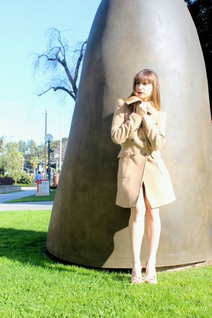 camel Zara coat - neutral Steve Madden heels