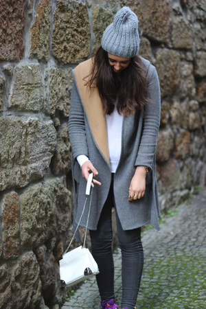 Zara coat - Zara bag - Adidas sneakers - H&M hair accessory