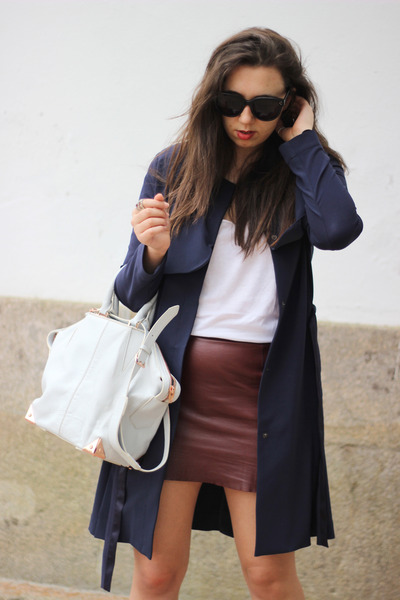 t by alexander wang skirt - Mango coat - Alexander Wang bag - Celine sunglasses