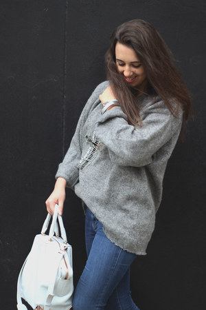 Isabel Marant boots - Alexander Wang bag - vintage jumper