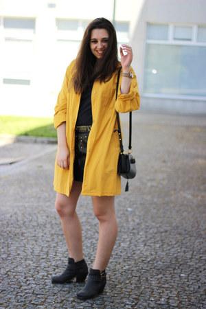 vintage coat - asos boots - Alexander Wang bag - Zara skirt