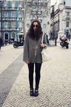 vintage jumper - balenciaga boots - Alexander Wang bag - Ray Ban sunglasses