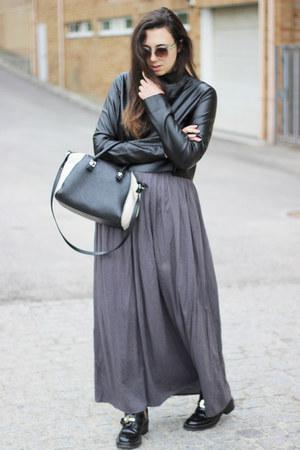 Zara shirt - balenciaga boots - H&M sunglasses