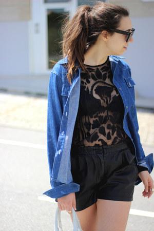 asos shirt - Dr Martens boots - Alexander Wang bag - Zara shorts