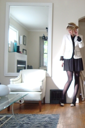 dress - blazer - shoes - accessories