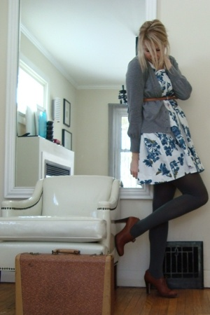 French Connection dress - sinnequenone sweater - Nine West shoes