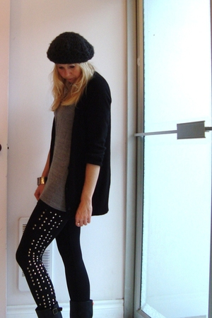 pants - t-shirt - Matiko boots - sweater - hat
