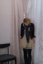 dress - jacket - scarf - boots