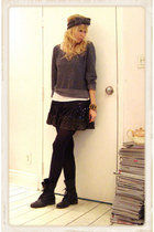 jules power top - sans souci skirt - Steve Madden boots - Rider accessories