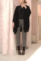 Line sweater - pants - vintage blouse - Nine West shoes