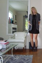 blazer - boots - dress - accessories