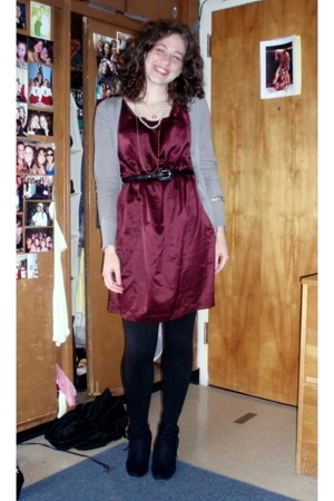 Old Navy dress - Forever21 sweater - Walmart boots