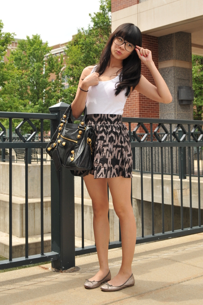 forever 21 top - forever 21 skirt - Zara shoes - balenciaga accessories - access