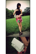 forever 21 top - forever 21 skirt - Aldo shoes - Chanel accessories