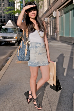 Forever21 top - Urban Outfitters shirt - Louis Vuitton accessories - Aldo shoes