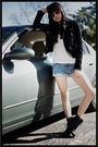 Black-h-m-jacket-blue-forever-21-shorts-black-aldo-shoes