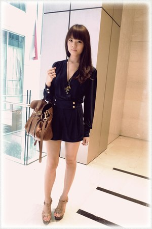 Topshop romper - Mulberry bag - Topshop wedges