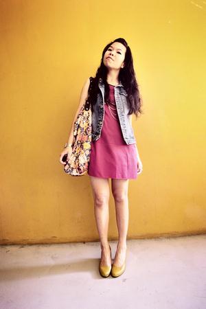 vest - blouse - wallet - shoes