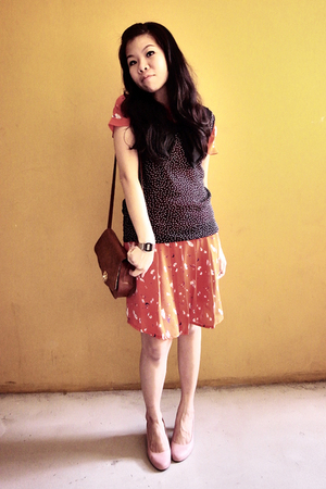 dress - blouse - wallet - shoes