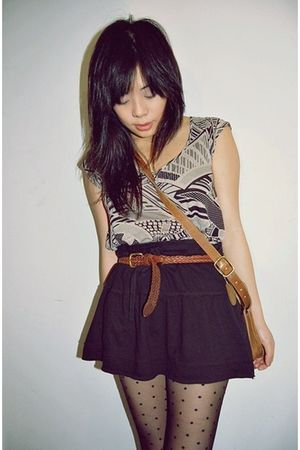 brown Urban Outfitters blouse