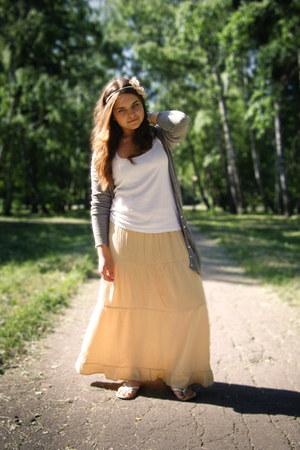 pull&bear top - DIY skirt - Stradivarius cardigan - asos accessories