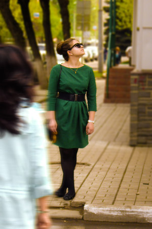 my moms design dress - H&M purse - H&M glasses - Swatch watch - Ostin belt