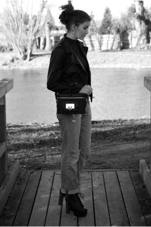 Jeffrey Campbell boots - H&M jeans - Zara jacket - & other stories bag