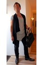 Gray-jeffery-west-boots-silver-xagon-man-shirt-black-leather-bag
