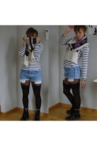 H&M sweater - Levis shorts - H&M stockings - doc martens boots