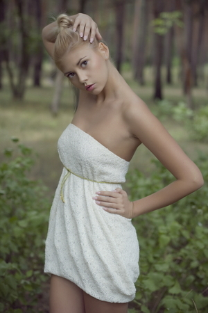 white dress is by me dress