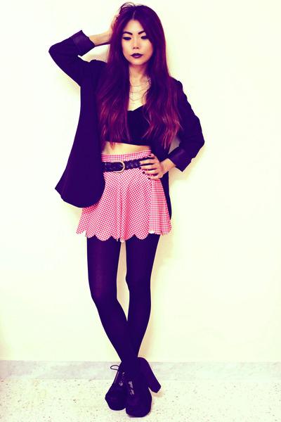 black Romwecom blazer - pink gingham Blackmilkclothingcom shorts