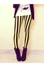 Silver-spike-romwecom-hat-yellow-beetlejuice-blackmilkclothingcom-leggings