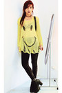 Black-wholesale7net-boots-yellow-sheinsidecom-sweater