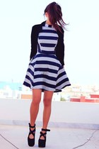 navy sugarlipscom dress - navy velvet Sammydresscom blazer