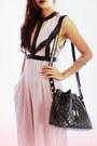Black-woakaocom-bag-light-pink-inlovewithfashioncom-romper
