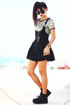 black creepers choiescom shoes - black Romwecom dress