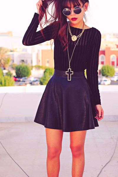 black studded choiescom boots - black Motelrockscom dress