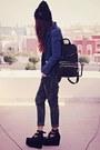 Black-girldivisionbigcartelcom-hat-navy-theeditorsmarketcom-shoes