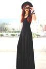 Black-burned-velvet-blackmilkclothing-dress-black-wide-brim-oasap-hat