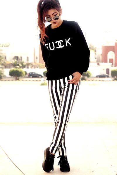 black creepers choiescom shoes - white Motelrockscom jeans