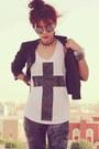 Black-round-romwe-glasses-black-punk-spike-oasap-necklace