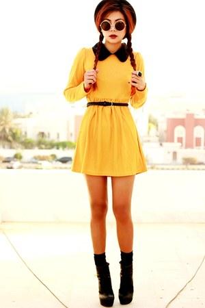 gold Sheinside dress